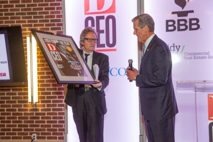D CEO Executive Editor Glenn Hunter presents BSWH CEO Joel Allison as the 2014 CEO of the Year.