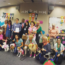 Baylor Scott & White Animal Assisted Therapy program volunteers at Baylor Plano's Dog Days of Summer event