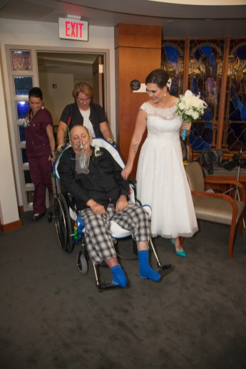 father-in-law walks bride down aisle