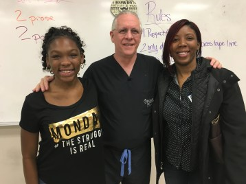 Dr. Goldstein with Taylor family