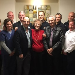 After heart attack, woman thanks emergency team who saved her life