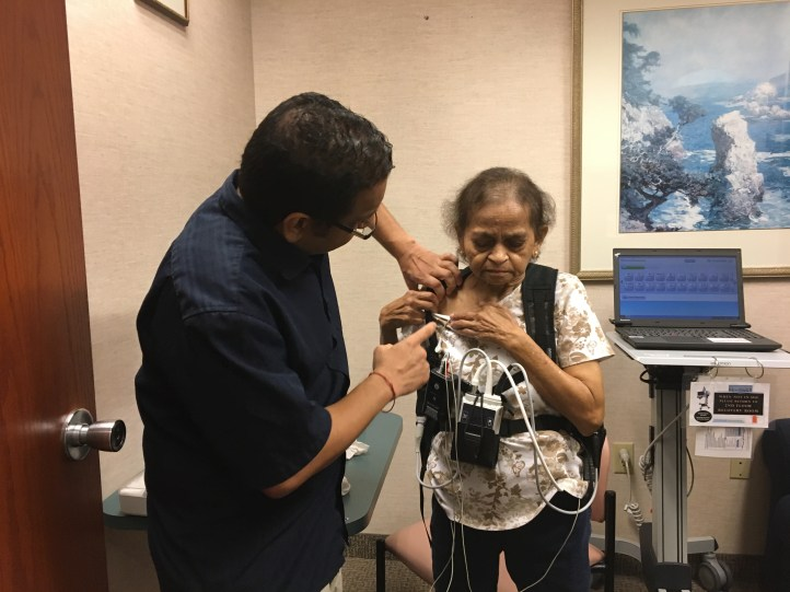 LVAD patient gears up for cardiac rehabilitation.