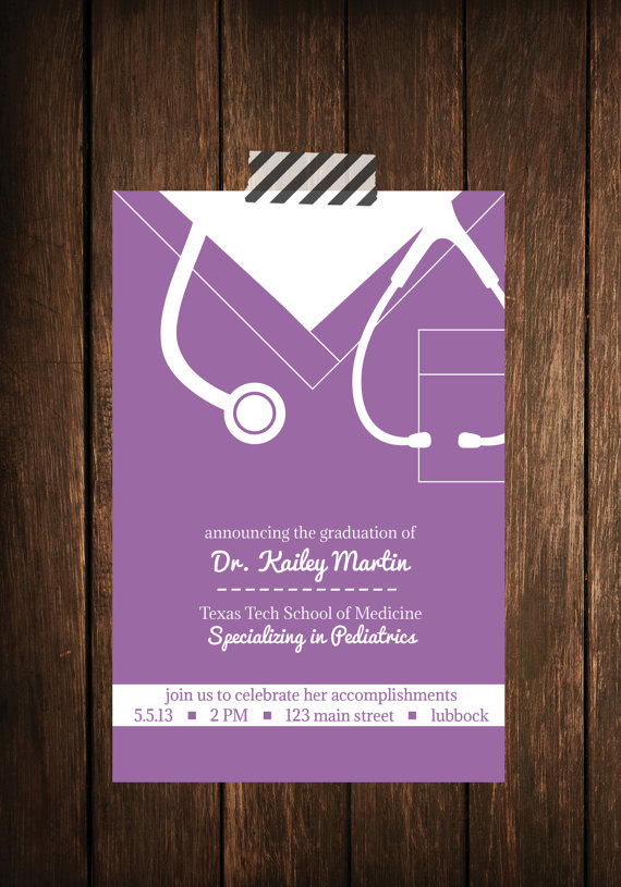 Nurse bling Custom graduation invitations  Scrubs  The