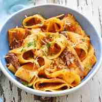 Pressure Cooker Oxtail and Pappardelle Pasta
