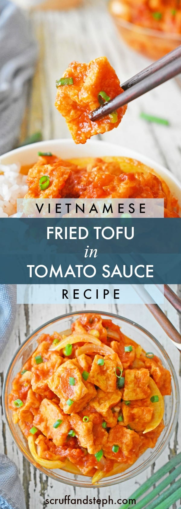 Vietnamese Fried Tofu in Tomato Sauce