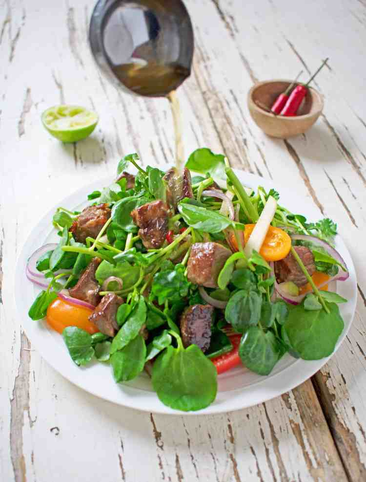 Vietnamese Beef and Watercress Salad