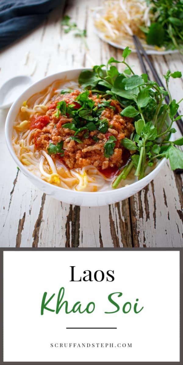 Laos Khao Soi - Tomato Meat Sauce Noodle Soup