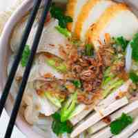Vietnamese Pork and Thick Noodle Soup (Banh Canh)