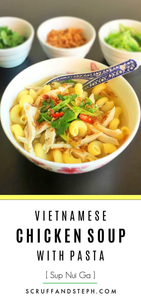 Vietnamese Chicken Soup with Pasta