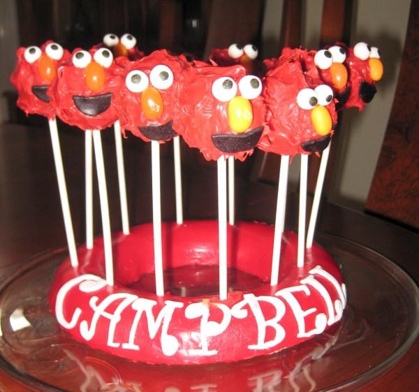 Elmo Cake Pops Fiona Poole