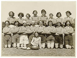 Women's rugby union team, New South Wales, Australia, 1930s.