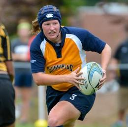 Quinnipiac women's rugby freshman Lindey Wise (Franklin, Wis.) was recently recognized for her accomplishments on the field after being named to the 2013 Kevin Higgins Scholarship Program.