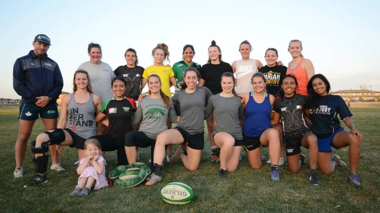 The Mexican national women's rugby team arrived in Saskatchewan earlier this week. Photo credit:Heidi Atter/CBC