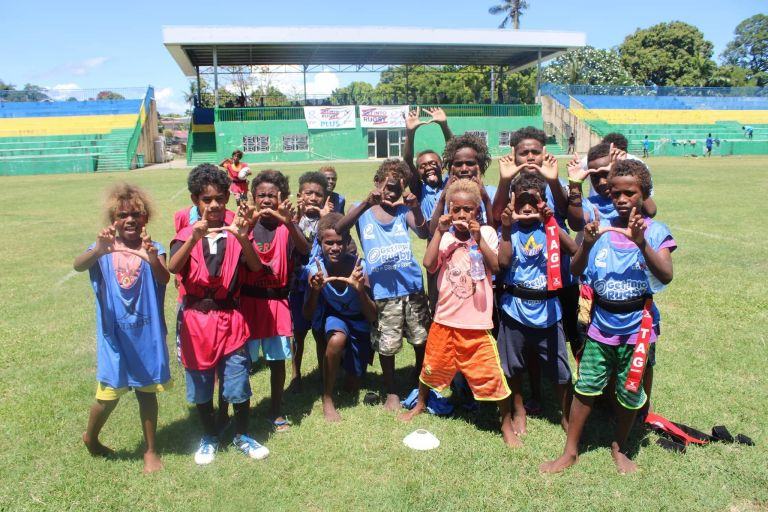 "Solomon Islands hold a ""get into rugby"" festival"