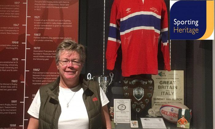 Carol Isherwood at the World Rugby Museum