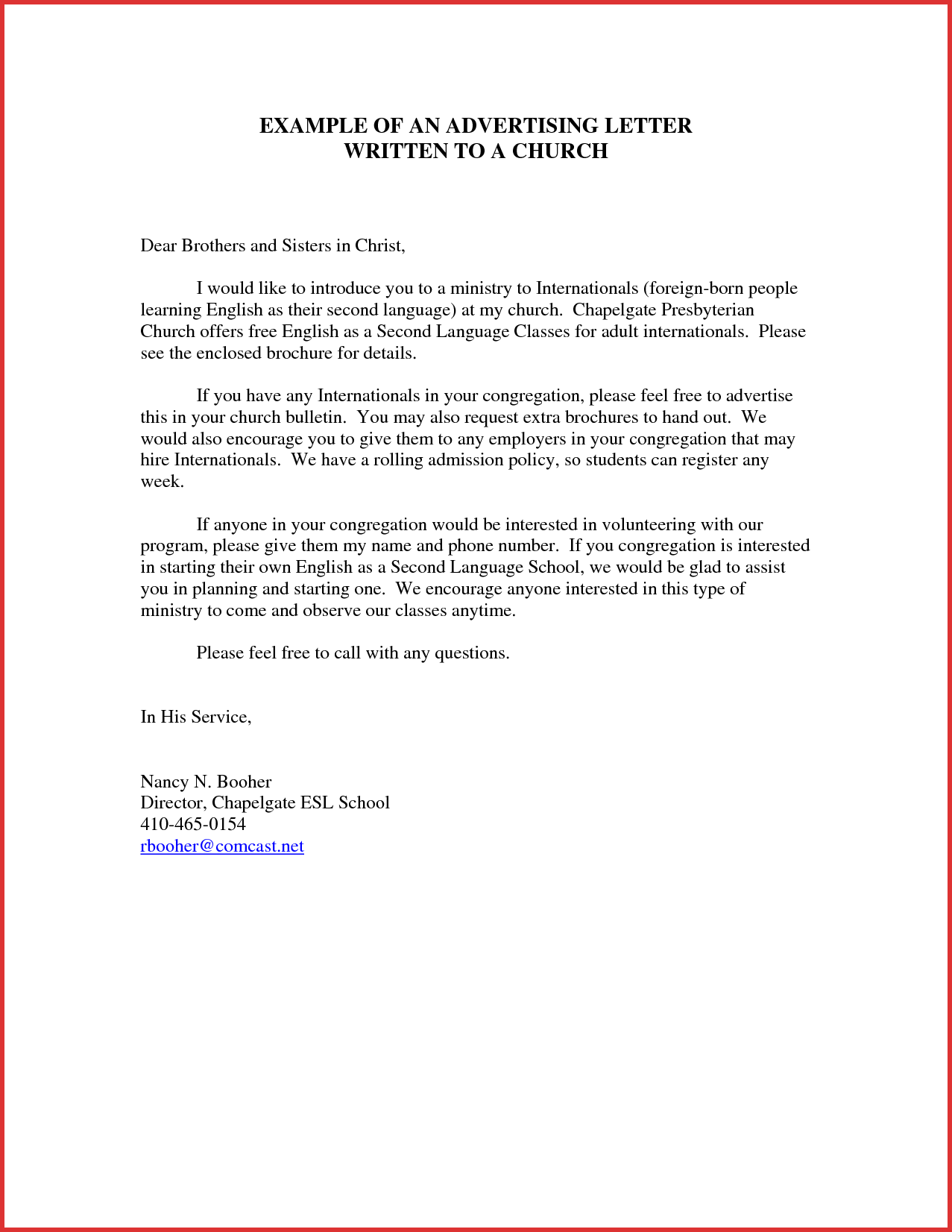 Advertising Request Letter  scrumps