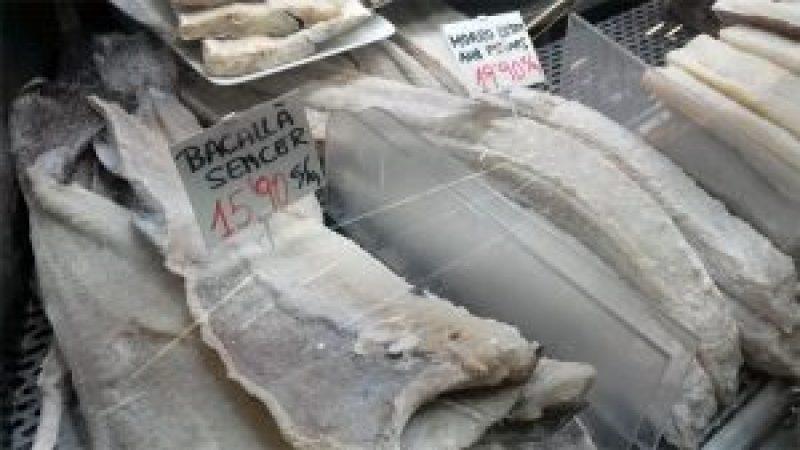Bacalao, Mercat Santa Caterina, Barcelona.