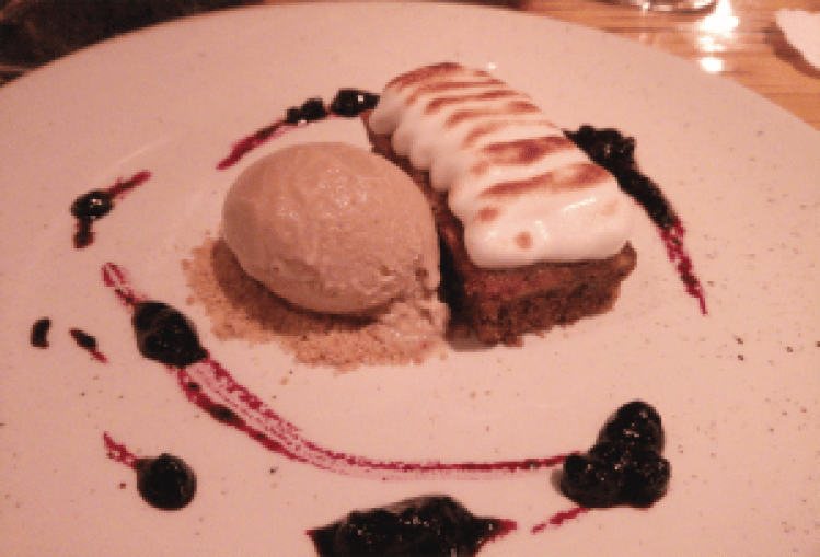 Guinness sponge and ice cream, the Finnieston, Glasgow.