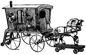toy horse and caravan