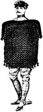 man/purse pseudo-heraldic montage