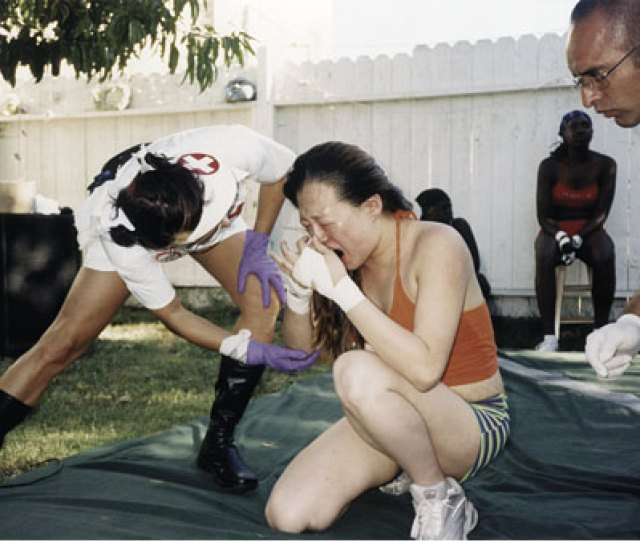 Chyna Gets Her Nose Broken For Free As A Nurse And A Doctor Investigate Photo By Terry Richardson