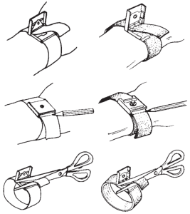 Adjusting an elastic wristband