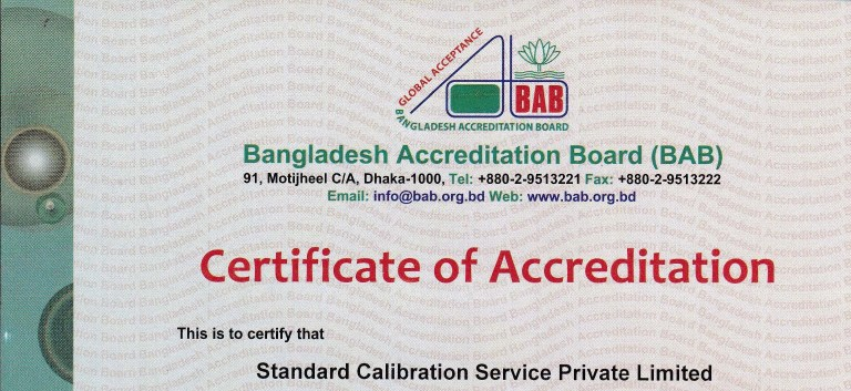 BAB Certificate
