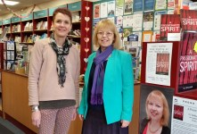 APS Judy Brook, Bookseller, with author SC Skillman in Kenilworth Books 13 Feb 2016