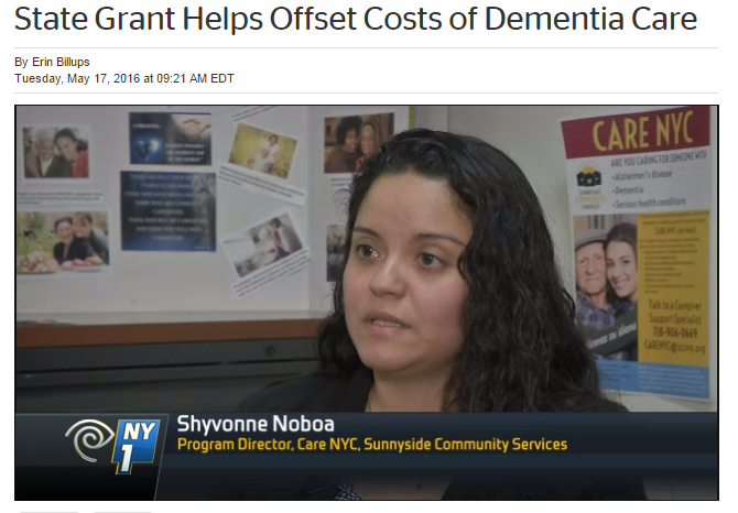 NY1 Reports On Supporting Alzheimer's Caregivers