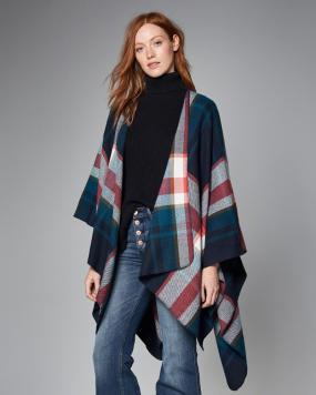 A & F - Patterned Blanket Poncho