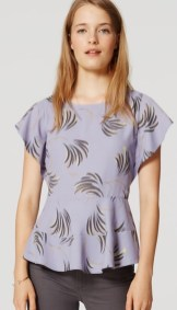 Loft Willow Peplum Tee