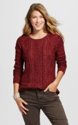 Target Mossimo Cable Sweater