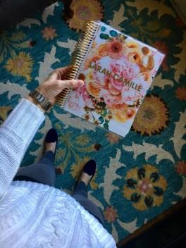 """My pretty Erin Condren LifePlanner in """"in bloom gold metallic."""""""