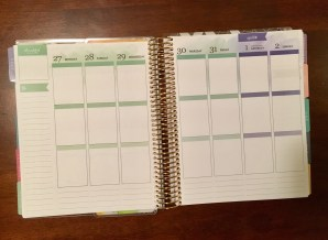 This is the weekly view, featuring the vertical layout.