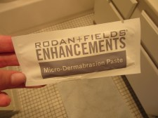 I used this micro-dermabrasion paste to exfoliate in the shower before applying the foam.