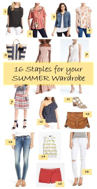 16 Summer Staples for your Summer Wardrobe