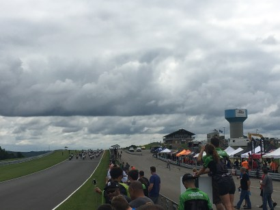 My view just as Will's race began.