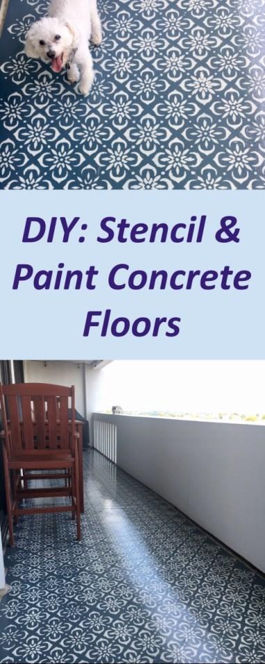 Painting Stenciling Concrete Floors Diy Sarah Camille S Scoop