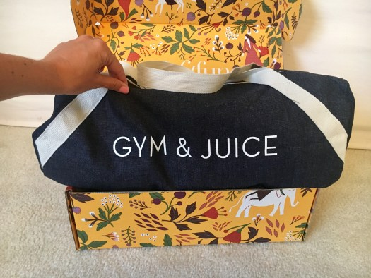 Inside FabFitFun Fall Box - Private Party Gym Bag