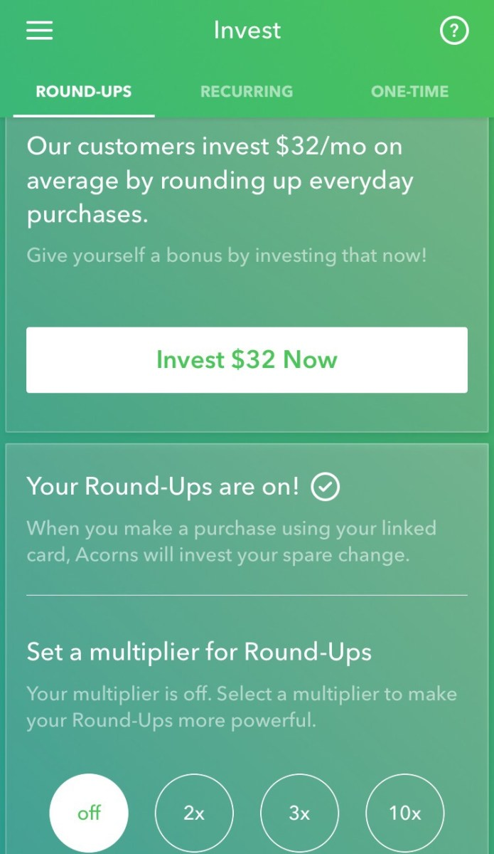 Acorns App Review - Investing Spare Change