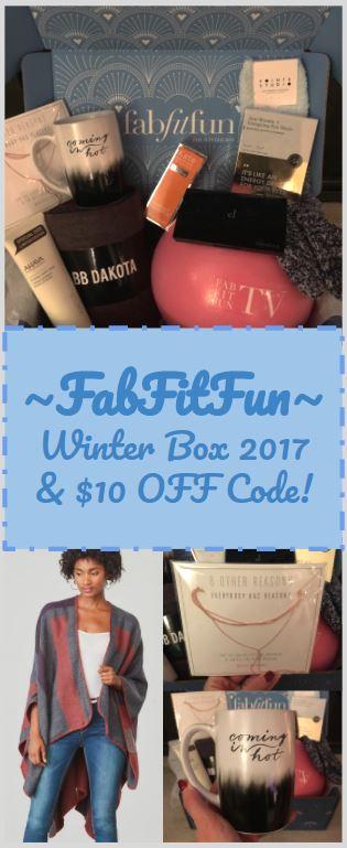 FabFitFun Winter Box 2017 and 10 Off Code