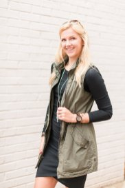 Olive Vest Best Fashion Purchases of the Year - Sarah Camille's Scoop - SCsScoop.com