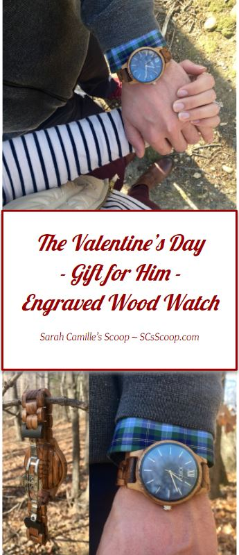 The Unique ValentinThe Unique Valentine's Day Gift for Him an Engraved Wood Watch from Jord Wood Watches - Sarah Camille's Scoop