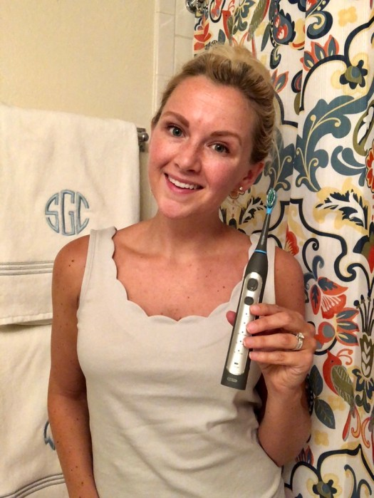 The Scoop on a New Electric Toothbrush + Coupon Code - Smile Brilliant CariPRO Review - SCsScoop.com