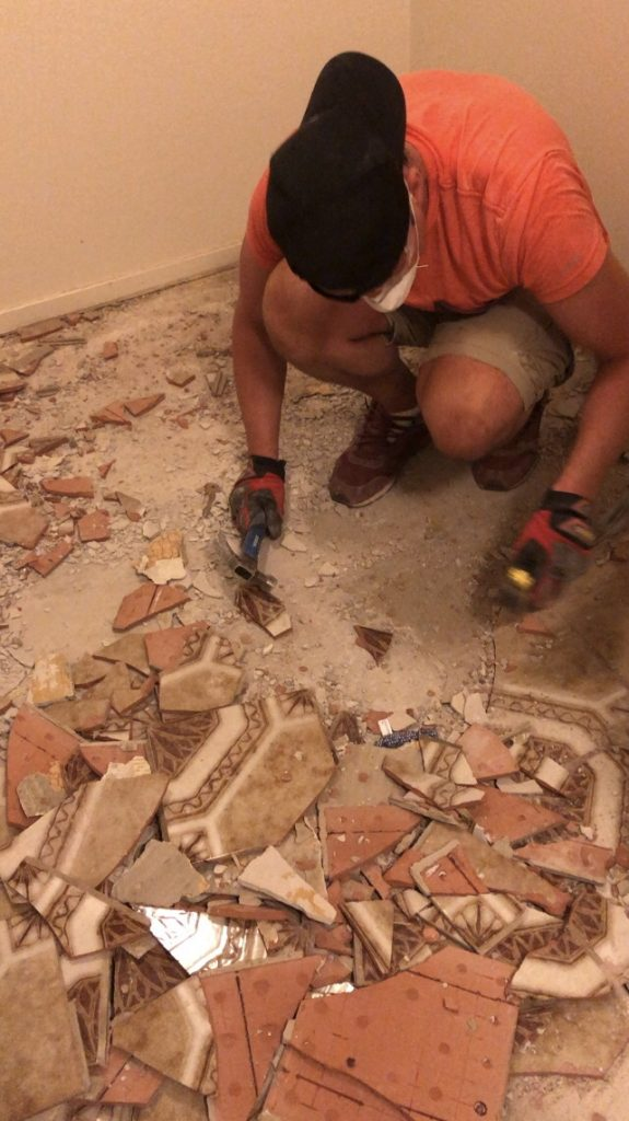Tile Demo - Getting New Floors & Our Home Remodel