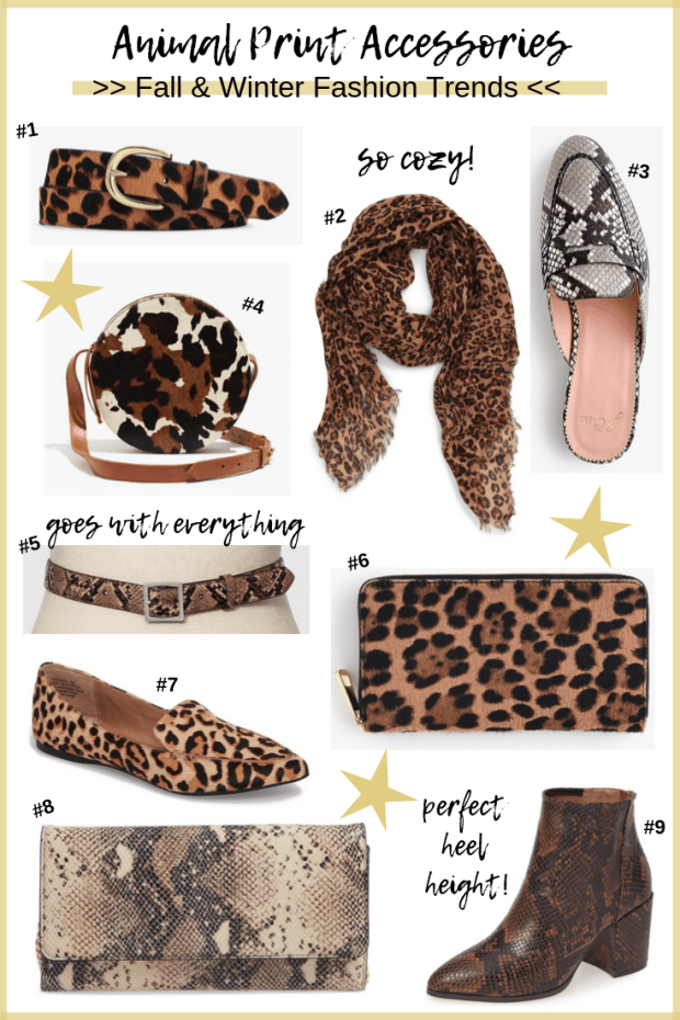 Animal Print Accessories for Fall - Fall Style Trends - Affordable Animal Print Accessories - SCsScoop.com