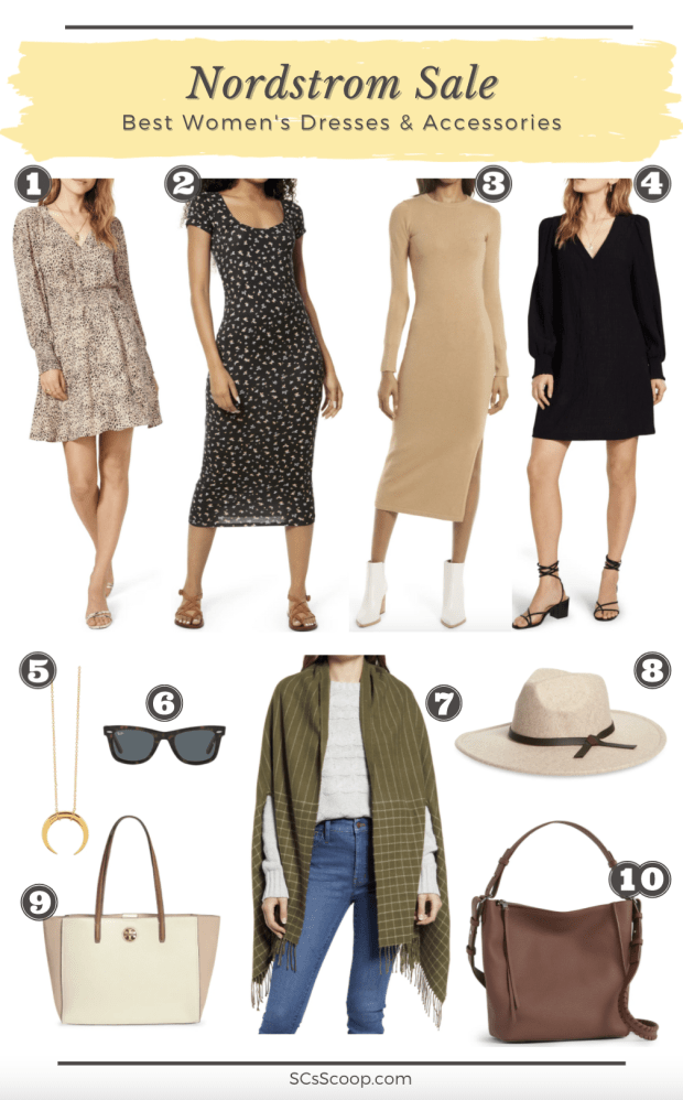 Nordstrom Sale: Best of the Best Women's Dresses and Accessories Collage - SCsScoop.com