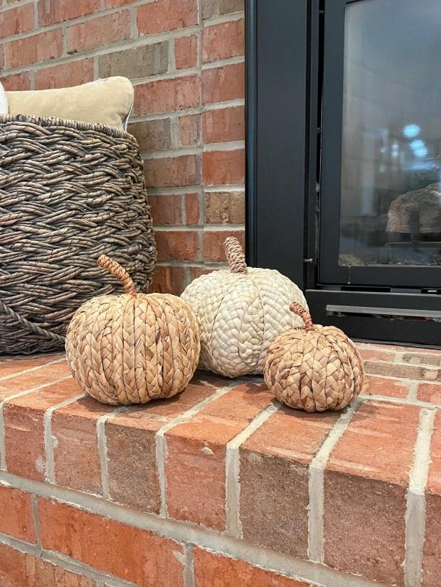 New Fall Home Decor - woven pumpkins - SCsSCoop.com