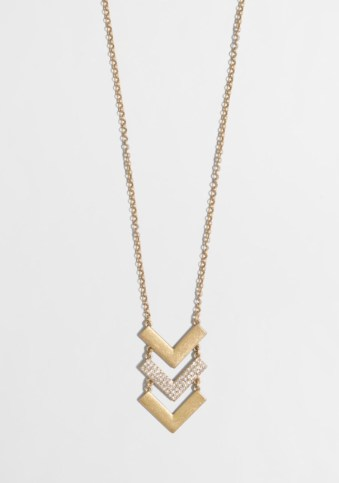 J.Crew Factory Chevron Pendant Necklace