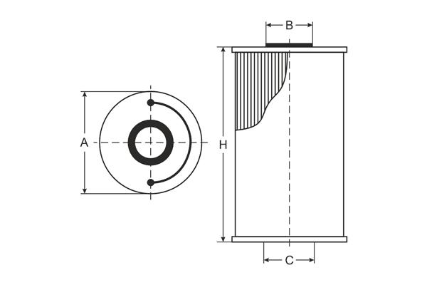 SC 7046 P Fuel filter SCT